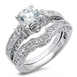 cz engagement rings sterling silver cubic zirconia cz wedding engagement ring set