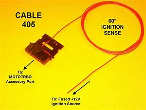 Cable 405 Ignition Sense Plug Motorola Mototrbo Xpr4300