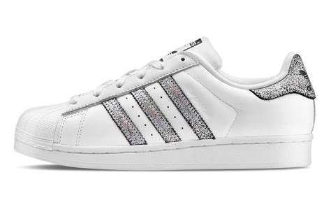 adidas 3 stripes adidas superstar white and silver shoes aw lab