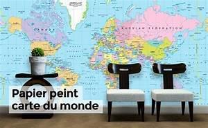 Papier Peint Planisphère : photos murales et papiers peints webstickersmuraux ~ Teatrodelosmanantiales.com Idées de Décoration