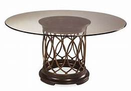 ART Intrigue Round Glass Top Dining Table 161224 2636 Tempered Glass Chrome Round Dining Room Table Solid Antique Furniture Dining Table Glass Dining Table Round Imports Luisa 48x48 Round Dining Table W Glass Top On Sale Online
