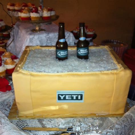 bud light yeti cooler yeti cooler cake with edible bud light beer bottle mothers