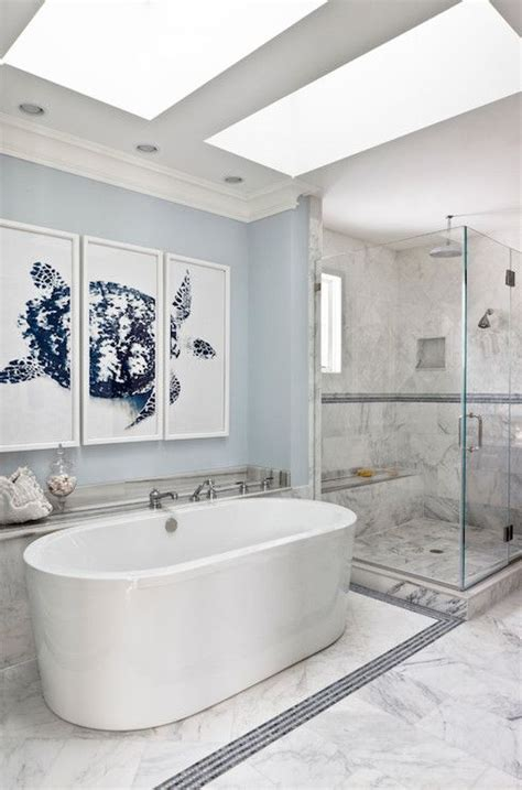galley bathroom ideas christine huve interior design uses the trowbridge galley triptych turtle in a navy color in the