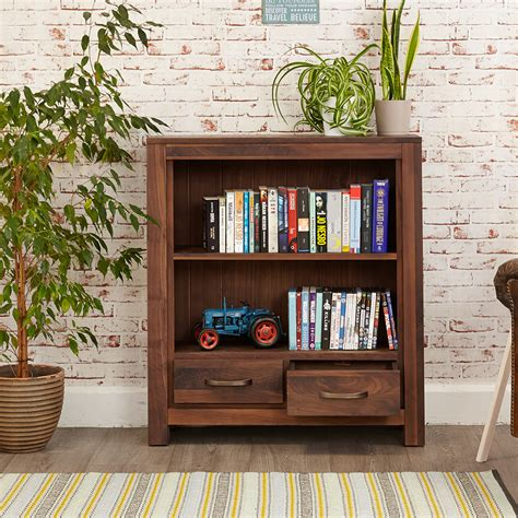 Low Modern Bookcase by Low Bookcase Modern Living Solid Walnut Quality