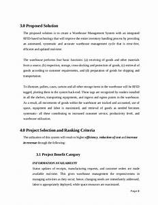 project proposal sample rfid on warehouse management system With it solution proposal template