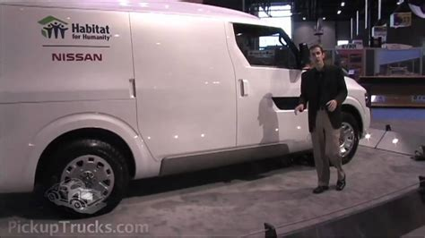 concept work truck nissan nv2500 commercial van concept at the 2009 ntea work