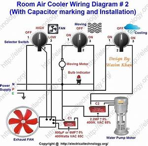 Room Air Cooler Wiring Diagram   2   With Capacitor
