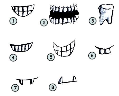 drawing cartoon teeth