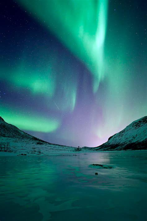 Shooting Star Nature Awesome Aurora Boreal