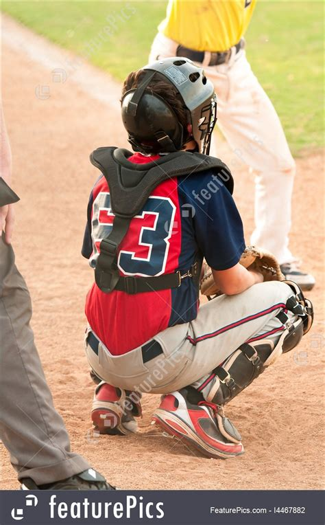 Teen Baseball Catcher Stock Picture I4467882 at FeaturePics