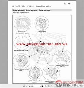 Kia Soul 2013 1 6l  2 0l Service Manual