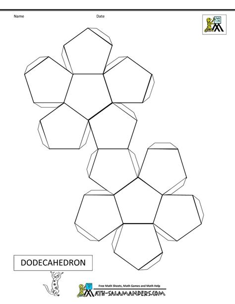 3d template 46 best images about 3d geometric box templates on platonic solid hexagon box and