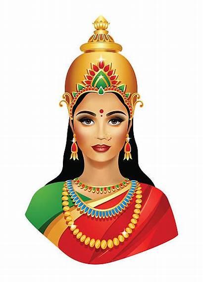 Lakshmi Goddess Vector Clip Hindu Illustrations Illustration