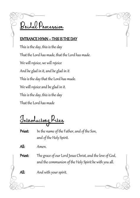 text templates gallery catholic wedding solutions
