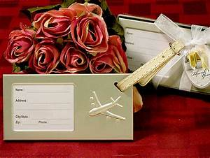Quotcome fly with mequot luggage tag wedding favors for Wedding favor luggage tags