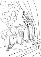 Coloring Rapunzel Pages Print sketch template