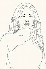 Coloring Jennifer Celebrity Lopez Jaylo Attack Traced Found Then Features Added Google sketch template