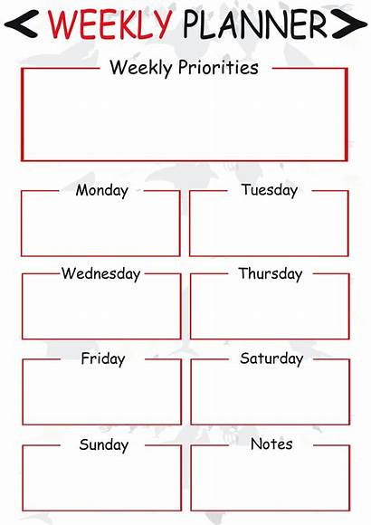 Weekly Planner Printable Template Schedule Pdf