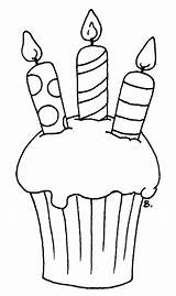 Cupcake Birthday Template Candle Outline Candles Cupcakes Coloring Cake Printable Pages Clipart Para Board Drawings Digital Happy Stamps Outlines Beccy sketch template