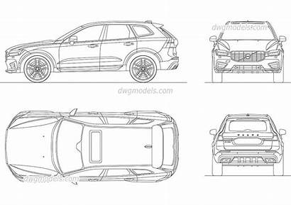 Volvo Xc60 Drawing Autocad Drawings Cad Dwgmodels