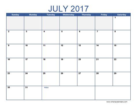 monthly calendar 2017 template july 2017 calendar template monthly calendar 2017