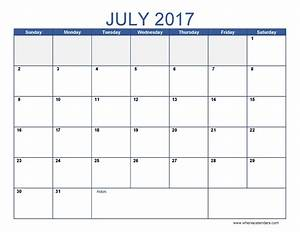 july 2017 calendar template | monthly calendar 2017
