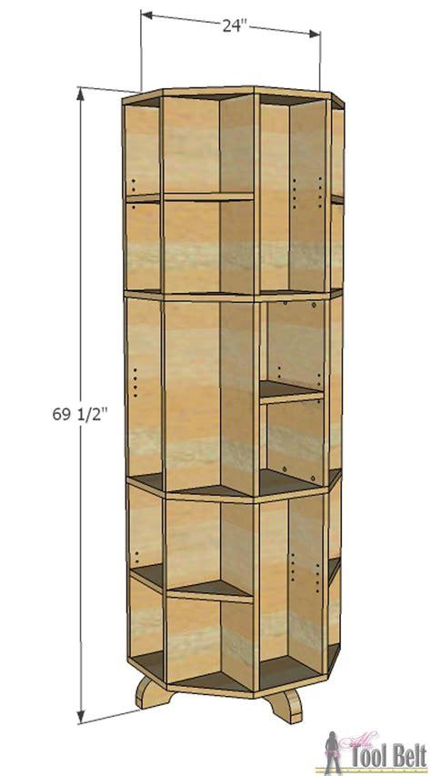 octagon rotating bookshelf dimensions  tool belt