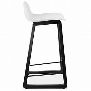 Mini Tabouret Bois : tabouret de bar chaise de bar mi hauteur design obeline mini blanc ~ Teatrodelosmanantiales.com Idées de Décoration