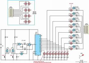 Simple Cat 5 Network Tester Circuit Diagram