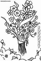 Bouquet Coloring Pages Bouquet4 sketch template