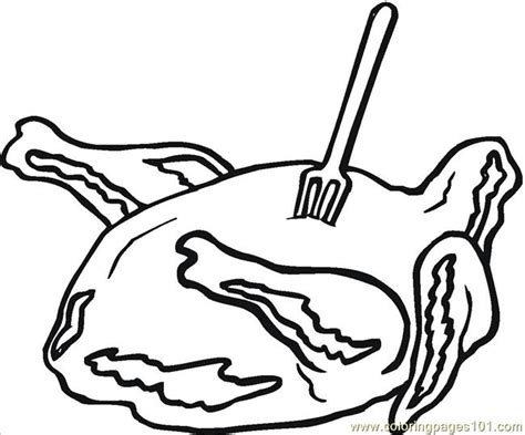 Free Meat Coloring Pages