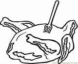 Coloring Meat Ham Colouring Sandwich Printable Coloringpages101 sketch template