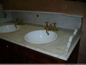 Meuble Haut Toilette : meuble de toilette en bois de noyer et marbre xixe si cle ~ Dallasstarsshop.com Idées de Décoration