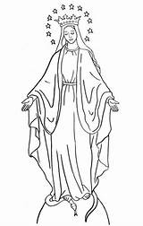 Coloring Catholic Pages Lady Mary Virgin Tattoo Religious Yahoo Saint Saints sketch template
