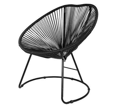 fauteuil de jardin copacabana fil noir 99 salon d 233 t 233