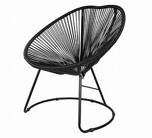 Fauteuil Fil Scoubidou : fauteuil de jardin copacabana fil noir 89 salon d 39 t ~ Teatrodelosmanantiales.com Idées de Décoration