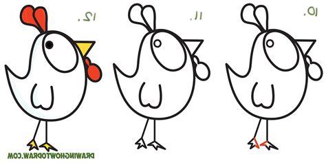 Chicken Drawing Cartoon