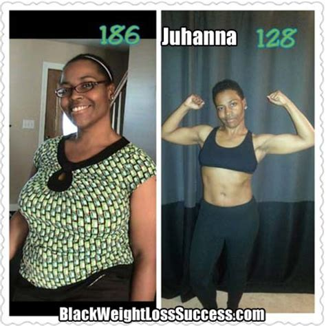 juhanna lost  pounds black weight loss success