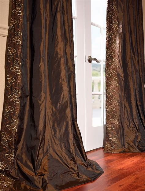 eos faux silk embroidered curtain traditional curtains