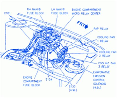 1997 Cadillac Catera Fuse Box Diagram by Cadillac Concours Sedan 1997 Fuse Box Block