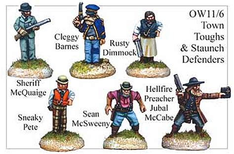 west defenders staunch town toughs wild miniatures sheriff cowboys mccabe wargamesfoundry