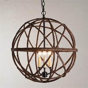 Twig sphere chandelier or pendant light kitchen tables
