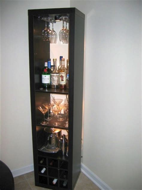 liquor cabinet ikea hack mike turns the expedit bookshelf into a standing bar unit