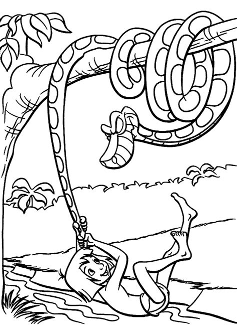 jungle book coloring pages king louie charming jungle