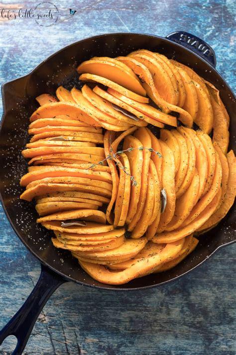 skillet oven roasted butternut squash sage thyme olive oil