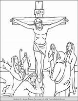 Catholic Drawing Crosses Cross Coloring Printable Pages Draw Getdrawings sketch template