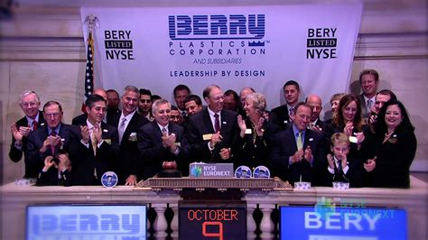 Berry Plastics Celebrates IPO rings the NYSE Opening Bell ...