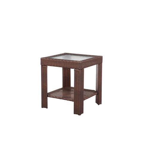 hton bay beverly patio accent table 65 9102337 the