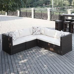 Portfolio aldrich brown indoor outdoor 5 piece sectional for Indoor outdoor sectional sofa