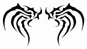 Simple Tribal Tattoo Wings - ClipArt Best